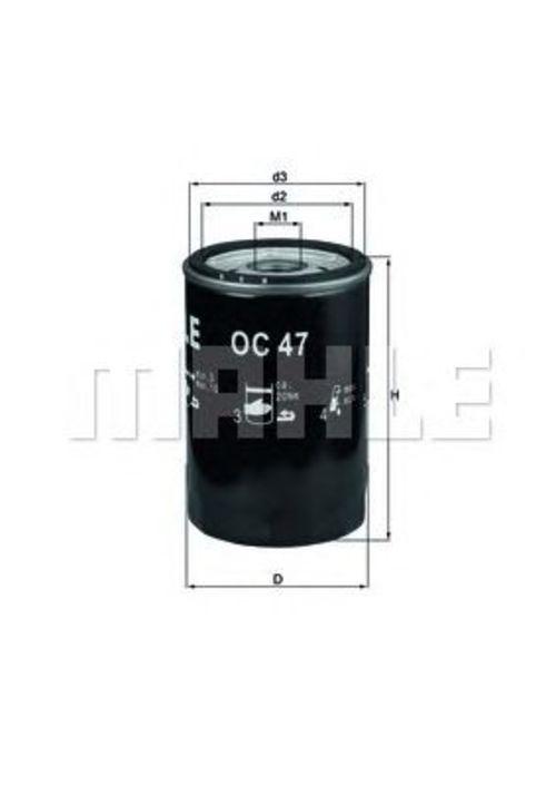 MAHLE / KNECHT Ölfilter AUDI 80 100 CABRIO VW GOLF 1 2 3 SCIROCCO 53B  T4  VENTO