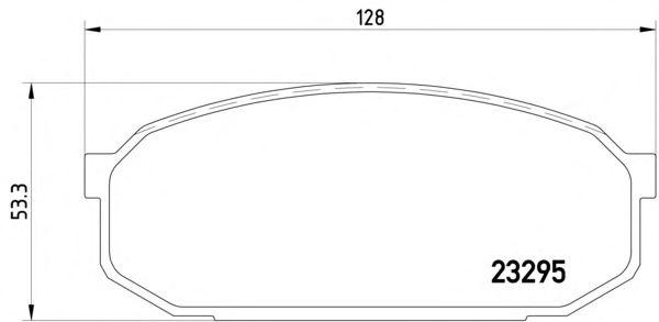 1 SATZ BREMSBELÄGE VORNE MAZDA 323 F V (BA) Pic:1