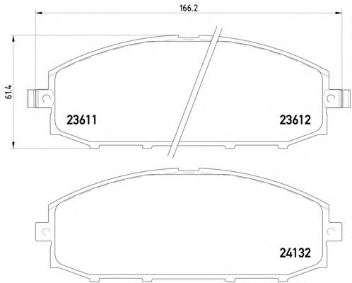 1 SATZ BREMSBELÄGE VORNE NISSAN PATROL GR II Wagon (Y61) Pic:1