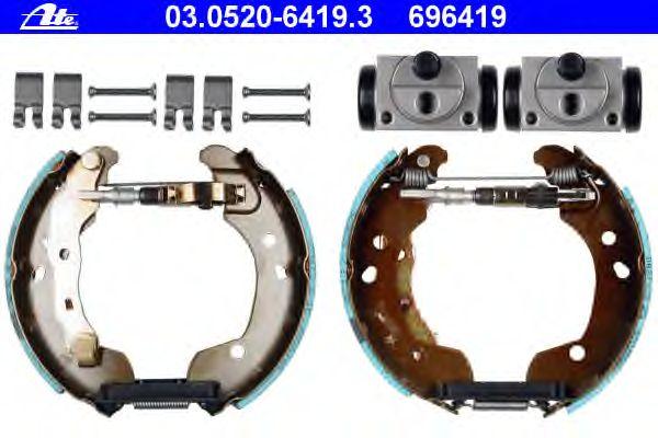 Zubehörsatz Bremsbacken hinten Nissan Micra C+C III Renault Clio III Modus