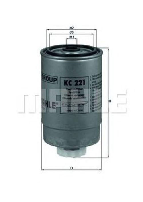 MAHLE / KNECHT Kraftstofffilter KC 221 ( KC221 )