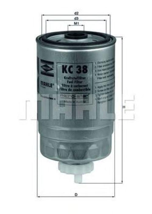 MAHLE / KNECHT Kraftstofffilter KC 38 ( KC38 )