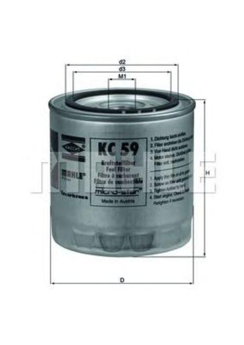 MAHLE / KNECHT Kraftstofffilter KC 59 ( KC59 )
