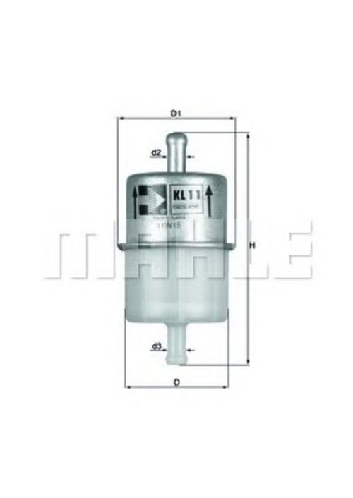 MAHLE / KNECHT Kraftstofffilter KL 11 OF ( KL11OF )