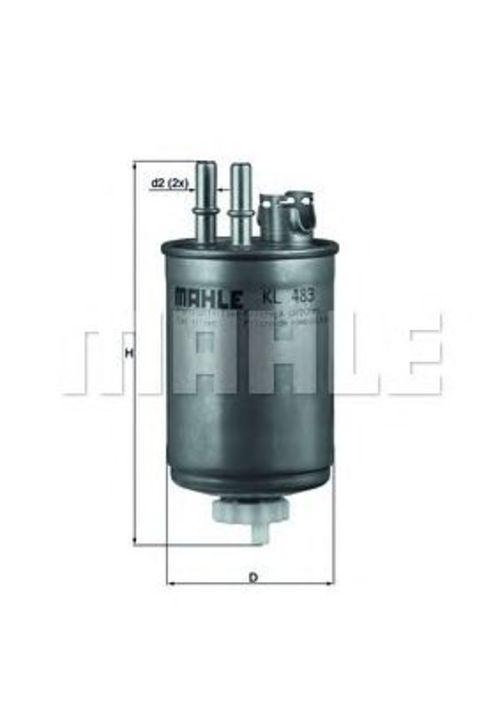 MAHLE / KNECHT Kraftstofffilter KL 483 ( KL483 )