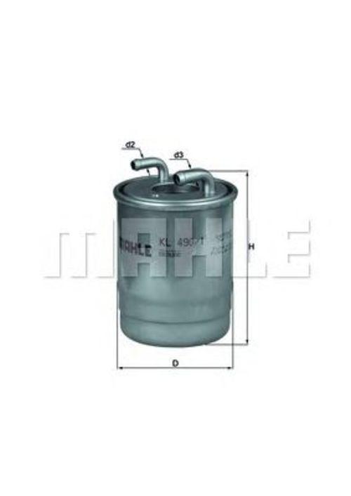 MAHLE / KNECHT Kraftstofffilter KL 490/1D ( KL490/1D )