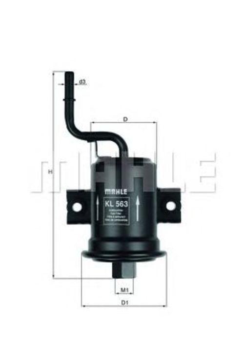 MAHLE / KNECHT Kraftstofffilter KL 563 ( KL563 )