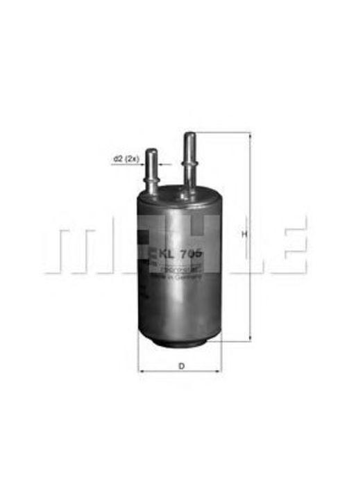 MAHLE / KNECHT Kraftstofffilter KL 705 ( KL705 )
