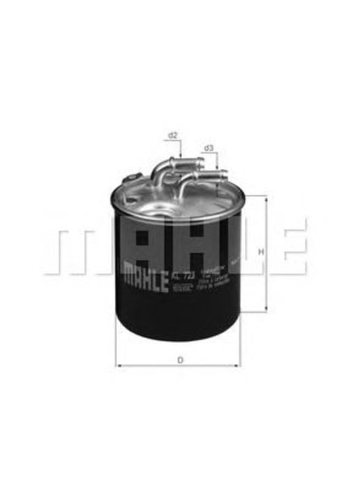 MAHLE / KNECHT Kraftstofffilter KL 723D ( KL723D )
