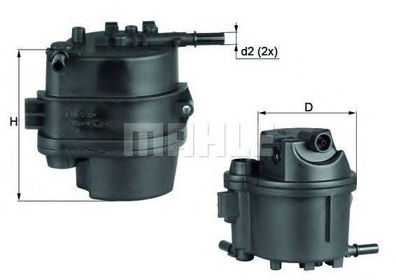 MAHLE / KNECHT Kraftstofffilter KL 777D ( KL777D )