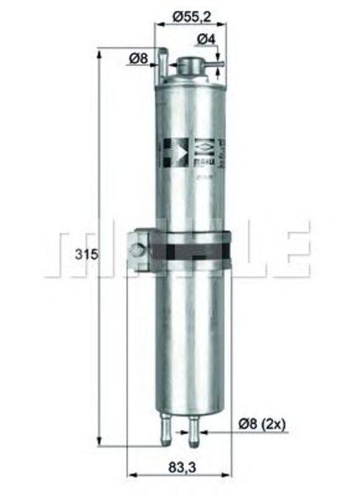 MAHLE / KNECHT Kraftstofffilter KLH 12 ( KLH12 )