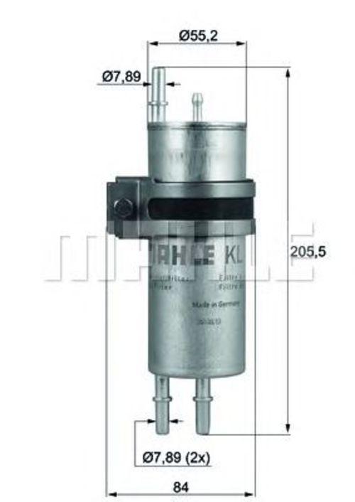 MAHLE / KNECHT Kraftstofffilter KLH 42 ( KLH42 )