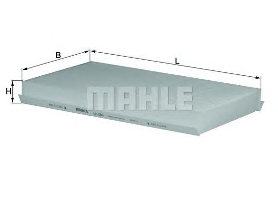MAHLE / KNECHT INNENRAUMFILTER POLLENFILTER LA 280 ( LA280 )