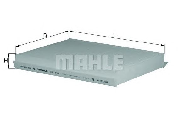MAHLE / KNECHT INNENRAUMFILTER POLLENFILTER LA 344 ( LA344 )
