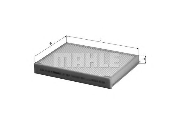 MAHLE / KNECHT INNENRAUMFILTER POLLENFILTER LA 387 ( LA387 )