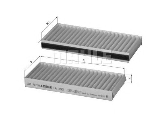 MAHLE / KNECHT INNENRAUMFILTER POLLENFILTER LA 392/S ( LA392/S )