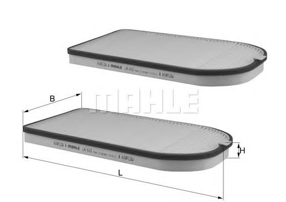 MAHLE / KNECHT INNENRAUMFILTER POLLENFILTER LA 613/S ( LA613/S )