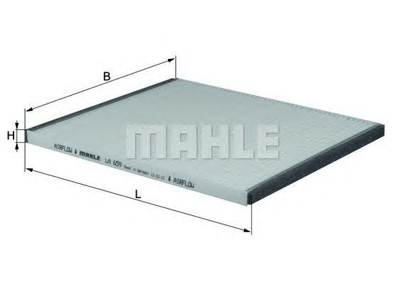 MAHLE / KNECHT INNENRAUMFILTER POLLENFILTER LA 659 ( LA659 )
