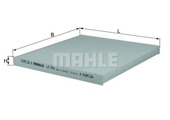 MAHLE / KNECHT INNENRAUMFILTER POLLENFILTER LA 876 ( LA876 )