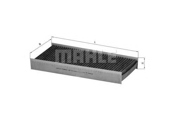 MAHLE / KNECHT AKTIVKOHLE INNENRAUMFILTER LAK 412 ( LAK412 )