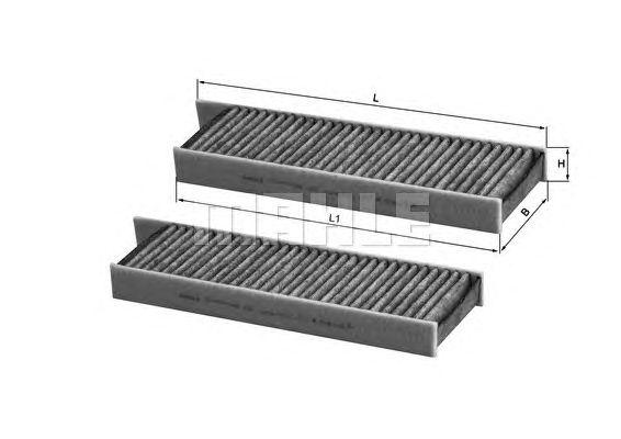 MAHLE / KNECHT AKTIVKOHLE INNENRAUMFILTER LAK 428/S ( LAK428/S )