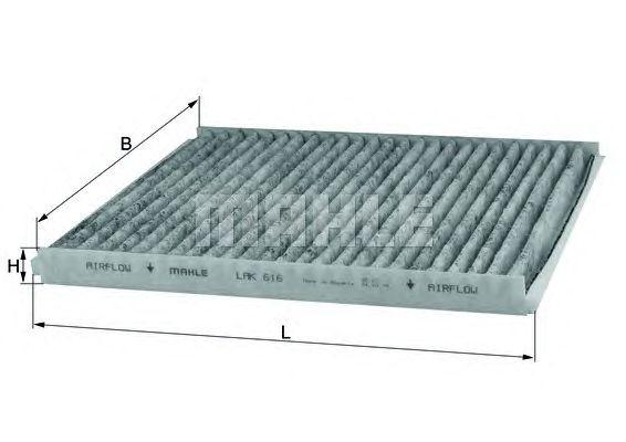 MAHLE / KNECHT AKTIVKOHLE INNENRAUMFILTER LAK 616 ( LAK616 )