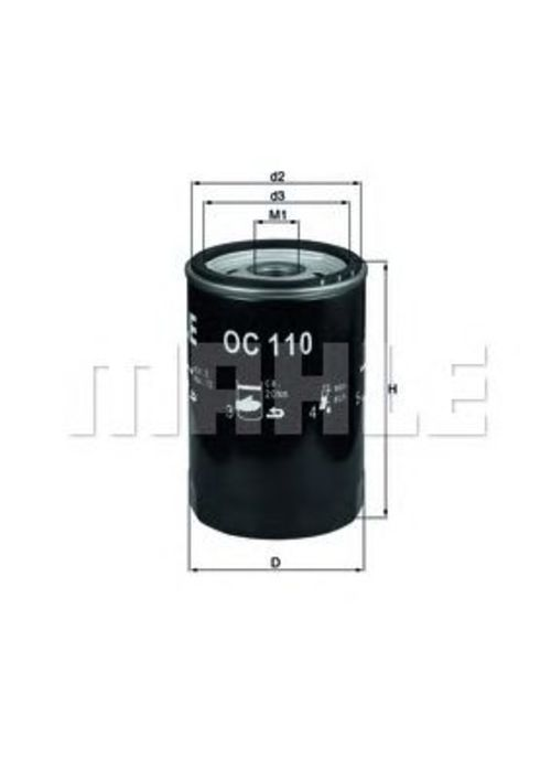 Ölfilter MAHLE KNECHT OC 110 OF