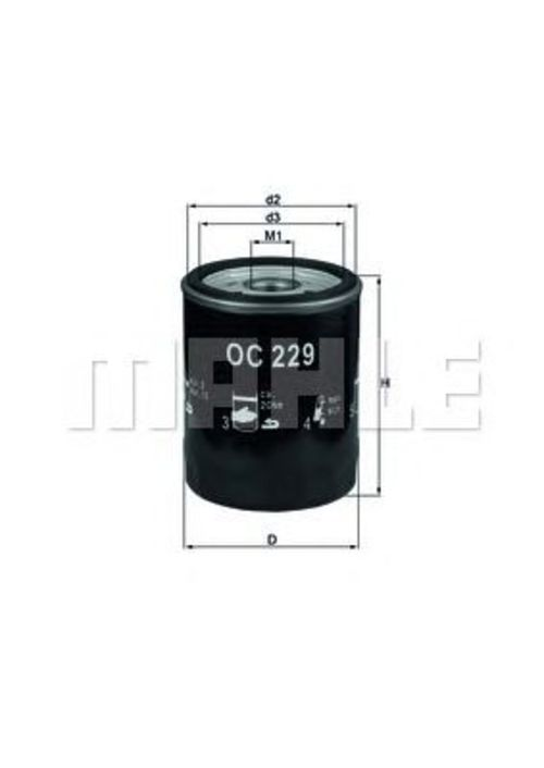 MAHLE / KNECHT Ölfilter PORSCHE 911 (993) auch CABRIOLET + TARGA