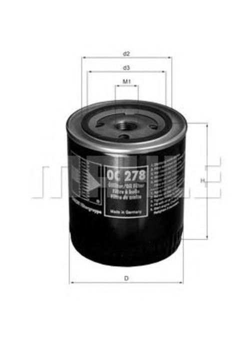 MAHLE / KNECHT Ölfilter OC 278 ( OC278 )