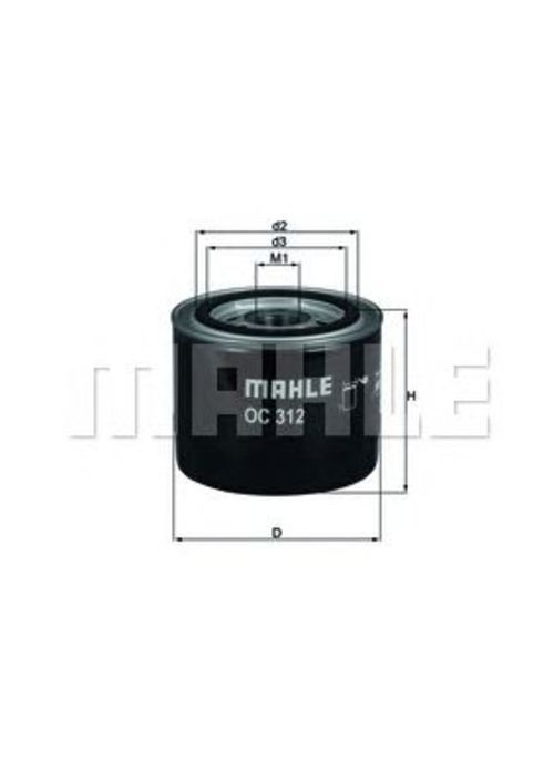 MAHLE / KNECHT Ölfilter OC 312 ( OC312 )