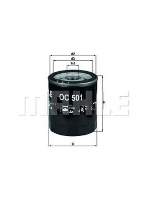 MAHLE / KNECHT Ölfilter ALFA ROMEO SPIDER 155 164 166 75 ALFASUD ALFETTA