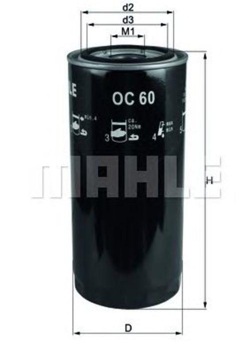Ölfilter CITROËN PEUGEOT FIAT Mahle OC 8
