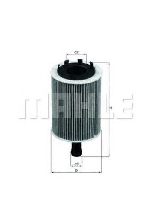 MAHLE / KNECHT Ölfilter AUDI A2 (8Z0) A3 (8P1+8PA) A4 (B7+B8) A5(8T3+8F7+8TA) Q5