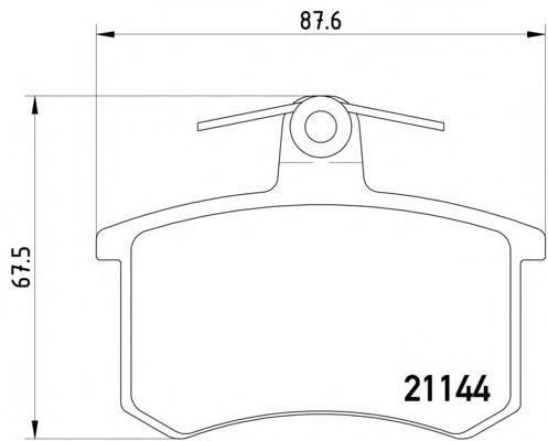 Bremsbeläge Bremsklötze hinten Audi 100 C3 C4 200 80 90 B2 B3 B4 A4 B5 A6 C4 A8
