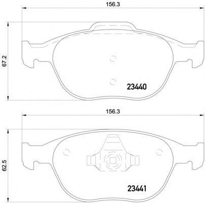 textar bremsscheiben 278mm bremsbel ge vorne ford fiesta 5. Black Bedroom Furniture Sets. Home Design Ideas